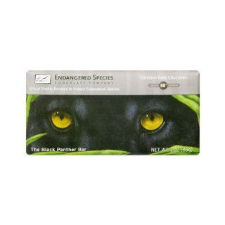 Endangered Species Ext Dark Choc Bar Black Panther ( 12x3 OZ) : Candy And Chocolate Bars : Grocery & Gourmet Food