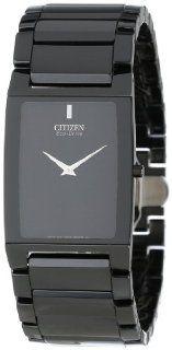 "Citizen Men's AR3045 52E ""Stiletto Blade"" Black Ceramic Eco Drive Watch at  Men's Watch store."