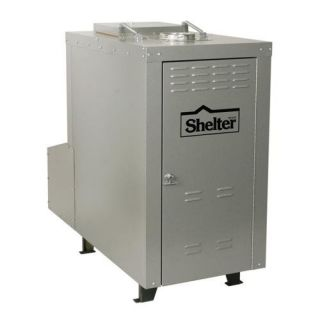 Shelter Furnace SF3048 180,000 BTU Outdoor Wood/Coal Burning Forced Air Furnace Heating, Cooling, & Air Quality