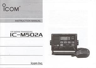 Icom M502A Instruction Manual  Marine Two Way Radios  GPS & Navigation
