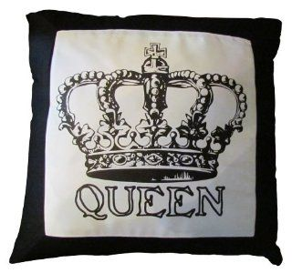 The Queen's Crown Black and White Decorative Throw Pillow, 18""