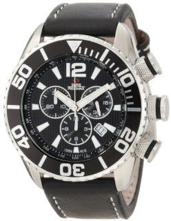 Swiss Precimax Men's SP12019 Deep Blue Executive Elite Black Dial with Black Leather Band Watch Swiss Precimax Watches