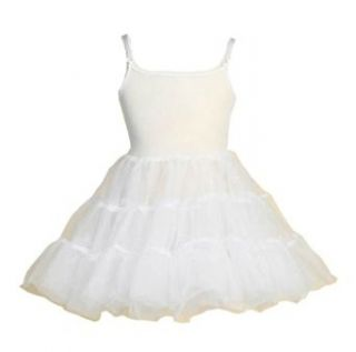 Summer's Girls Full Petticoat in White: Apparel Half Slips: Clothing