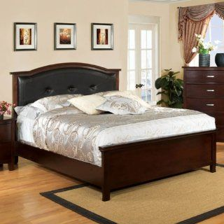 Crest View Brown Cherry Finish Full Size Bed Frame Set Home & Kitchen