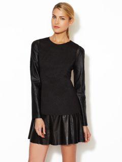 Rio Leather Sleeve Top by Stella & Jamie