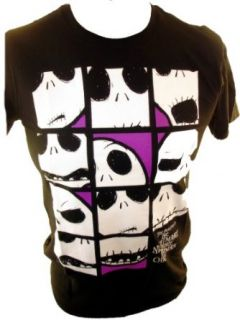 Nightmare Before Christmas NBX Mens T Shirt   Jack Skellington Face Boxes (X Small): Clothing