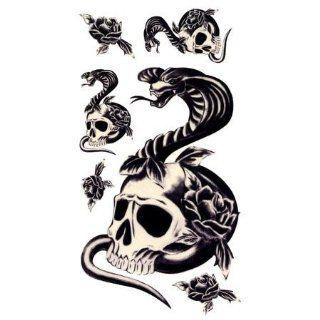 d404aab5aaa ... Skull   Cobra Tattoos Childrens Temporary Tattoos ...