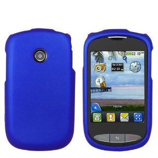 TOOGOO Blue Rubberized Protector Case for LG 800G: Cell Phones & Accessories