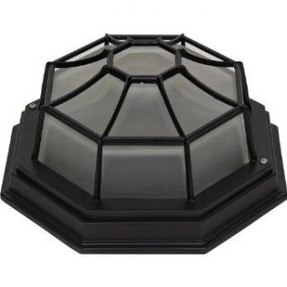 Yosemite Home Decor FL3902LORB Serge 1 Light Fluorescent Exterior Flush Mount with Frosted Shade   Flush Mount Ceiling Light Fixtures