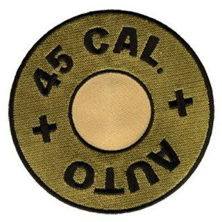 "45 CAL Calibre Caliber Gun Bullet 4"" Funny Embroidered Fun NEW Biker Vest Patch!: Everything Else"