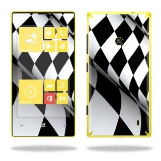 MightySkins Protective Vinyl Skin Decal Cover for Nokia Lumia 520 Cell Phone T Mobile Sticker Skins Checkered Flag: Cell Phones & Accessories