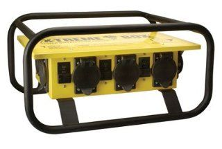 Coleman Cable 01972 3R 02 Temporary Power Distribution Box, 50 Amp 125/250V   Electrical Boxes