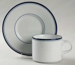 Dansk Allegro Blue(Portugal/Sri Lanka/Thailand Flat Cup & Saucer Set, Fine China