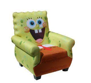 Nickelodeon Spongebob Squarepants Adult Chair   Childrens Upholstered Armchairs