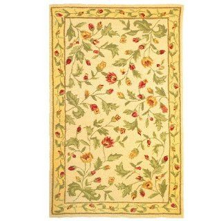 Homefires Delicate Blossoms 28 Inch by 90 Inch Indoor Hand Hooked Area Rug   Bedroom Area Rugs