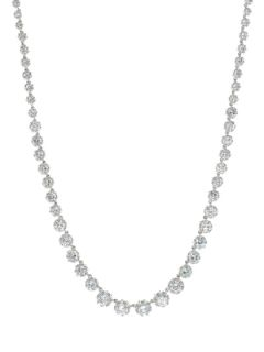 Graduated CZ Crown Station Necklace by CZ by Kenneth Jay Lane
