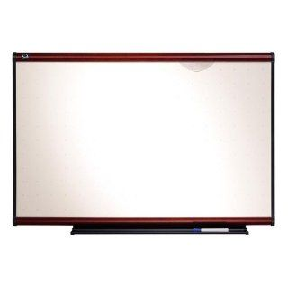 Quartet TE544M   Total Erase Marker Board, 48 x 36, White, Mahogany Frame QRTTE544M : Dry Erase Boards : Office Products
