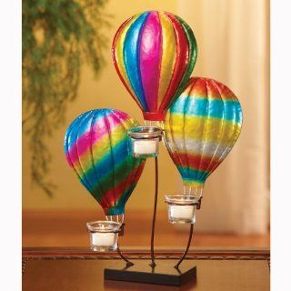 "Shop Pack of 3 Triple Tea Light Candle Holder Hot Air Balloon Sculptures 18"" at the  Home D�cor Store. Find the latest styles with the lowest prices from CC Home Furnishings"