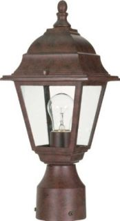 Nuvo 60/547 Old Postlantern with Clear Glass, Old Bronze   Outdoor Post Lights