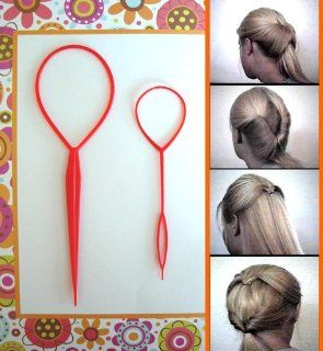 Topsy Tail, TopsyTail Hair Braid Maker, Ponytail Styling Tool: Toys & Games