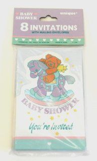 Rocking Horse Baby Shower Invitations & Envelopes   8 Pack: Health & Personal Care