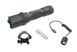 "Ultimate Arms Gear Tactical 130+ Lumens L.E.D Military Flashlight LED Tac   Light Kit For Ruger 1022,10/22.10 22, Mini 14, Mini 14,SR556,SR 556,SR22,SR 22 Rifle 12/20 Gauge Shotgun With A 7/8"" Weaver Picatinny Rail Includes: Weaver Picatinny Ring Moun"