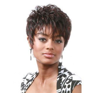 BOBBI BOSS Human Hair Wig   MH1168 (#1B   Off Black)  Hair Replacement Wigs  Beauty