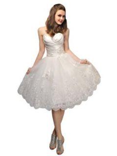 VILAVI Women's Princess Taffeta Sweetheart Strapless Lace up Short Wedding Dresses at  Women�s Clothing store