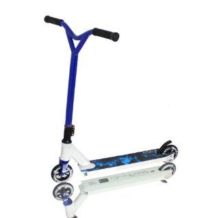 Grit Mayhem White/Blue ICS Semi Intergrated Pro Scooter Complete Brand New Professionally Assembled Ready to Ride : Sports Kick Scooters : Sports & Outdoors