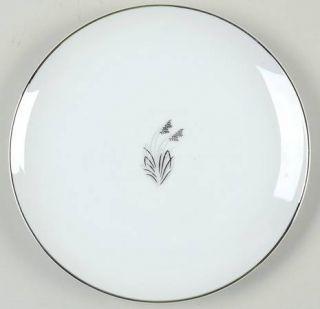 Fukagawa Moonlight Salad Plate, Fine China Dinnerware   Platinum And Gray Leaves