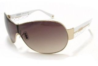 Coach Leanne S566 Sunglasses S 566 Golden/White 718 Frame: Clothing