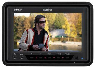 Clarion VMA570 5.6 Inch Digital TFT LCD Widescreen Monitor : Vehicle Headrest Video : Car Electronics