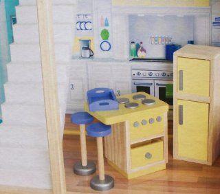 Play Wonder Dollhouse Wood Kitchen Accessory 5 Piece Set Toys & Games