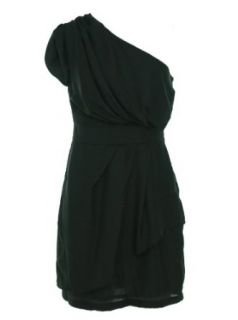 BCBGeneration Women's One Shoulder Dress (4, Black) at  Women�s Clothing store: Special Occasion Dresses