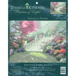 "Thomas Kinkade Stairway To Paradise Counted Cross Stitch Kit 14""X10"" 14 Count MCG Textiles Cross Stitch Kits"