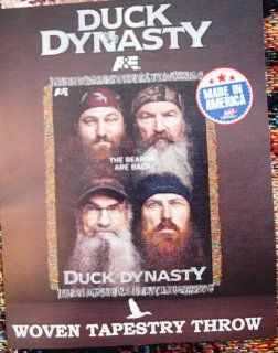 "Duck Dynasty Beards Are Back Woven Tapestry Throw (48"" X 60"")   Throw Blankets"