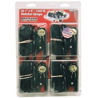 """ERICKSON RATCHETING TIE DOWNS 4 PACK   1"""" X 6', Manufacturer: ERICKSON, Manufacturer Part Number: 05511, Stock Photo   Actual parts may vary.: Automotive"""