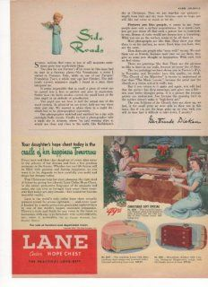 Lane Cedar Hope Chest Practical Gift Home 1950 Vintage Antique Advertisement  Prints