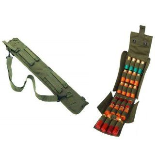 "Ultimate Arms Gear Tactical 29"" OD Olive Drab Green Molle Scabbard For Mossberg 500/590/835/Maverick 88 12 Gauge Shotgun + Tactical OD Olive Drab Green Molle 25 Shot Shell Ammunition Ammo Reload Carrier Pouch For 12 Gauge Shotgun Rounds : Gun Ammuniti"