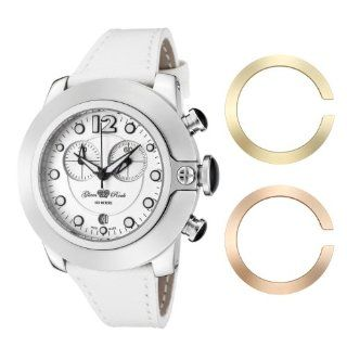 Glam Rock Women's GR32153 SoBe Chronograph White Dial White Leather Watch: Watches