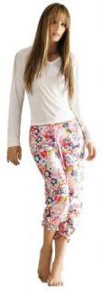 Adriana Arango Women's High Quality Long Sleeve Capris Pajama Set 7478 at  Women�s Clothing store