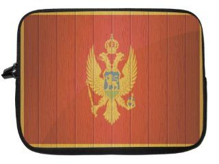10 inch Rikki KnightTM Montenegro Flag on Distressed Wood Laptop sleeve   Ideal for iPad 2,3,4, iPad Air, Galaxy Note, Small Notebooks and other Tablets: Computers & Accessories