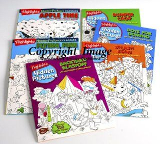 Hidden Picture Puzzles _ Bundle of 6 Books with Picture Clues: Toys & Games