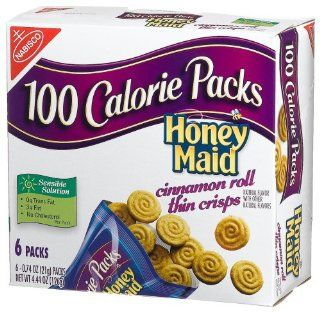 100 Calorie Packs Honey Maid Cinnamon Roll Thin Crisps, 6 Count Packets (Pack of 6)  Cookies Gourmet  Grocery & Gourmet Food