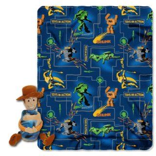 Disney, Toy Story, Action Woody 40 Inch by 50 Inch Fleece Blanket with Character Pillow by The Northwest Company   Throw Blankets