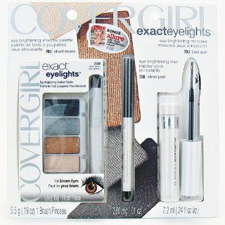 CoverGirl Exact Eyelights Bonus Set for Brown Eyes: Eye Brightening Shadow Palette, Eye Liner & Mascara: Beauty