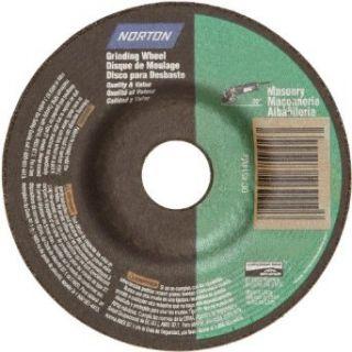 "Norton Masonry Depressed Center Abrasive Wheel, Type 27, Silicon Carbide, 7/8"" Arbor, 4 1/2"" Diameter x 1/4"" Thickness (Pack of 10) Abrasive Cutoff Wheels Industrial & Scientific"