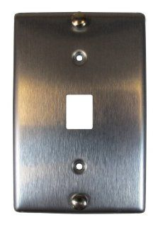 Allen Tel Products AT630B 6 Single Gang, 1 Port, 6 Position, 6 Conductor Wall Telephone Outlet Jack, Stainless Steel