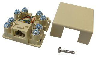 Allen Tel Products AT635C2 1 Port, Mounting Screw, Snap On Cover, 8 Position, 8 Conductor, No Shorting Bar Voice Connecting Block, Ivory