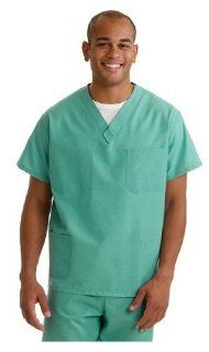 630NHTXL CM   Medline AngelStat Unisex Two Pocket Reversible Scrub Tops,Sapphire,XL Health & Personal Care